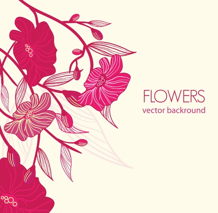 Abstract blight vector  banners with drawing bright flowers Vector
