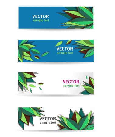 energy market: Abstract multicolor vector  green natural banners for web