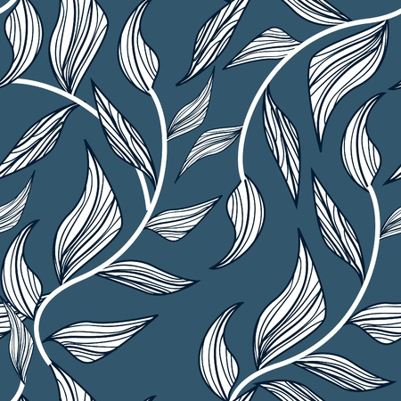 Pattern with leafs Vector