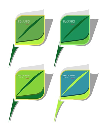 Abstract multicolor vector  green natural banners for web Vector