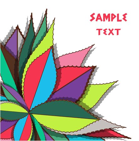 Bright background with drawing leafs Stock Vector - 10401300