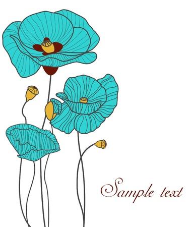 poppy: Blue poppies