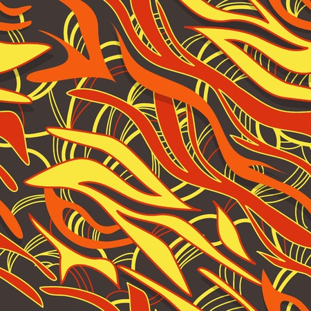 Abstract background with bright waves Vector