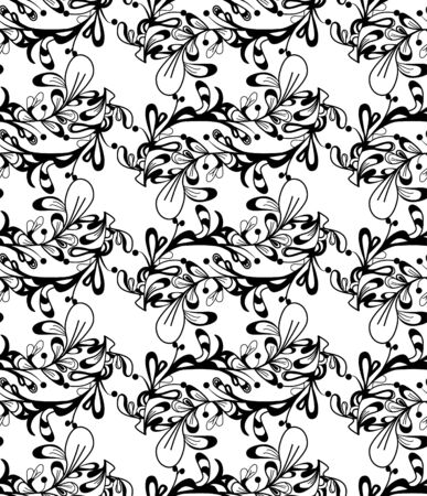 Abstract vector seamless texture with black pattern Vector