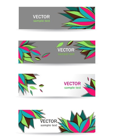 Abstract multicolor vector  rectangle banners for web Vector