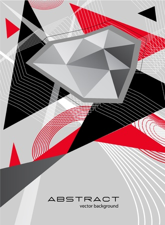 constructivism: Abstract background with bright triangle and stripes Illustration