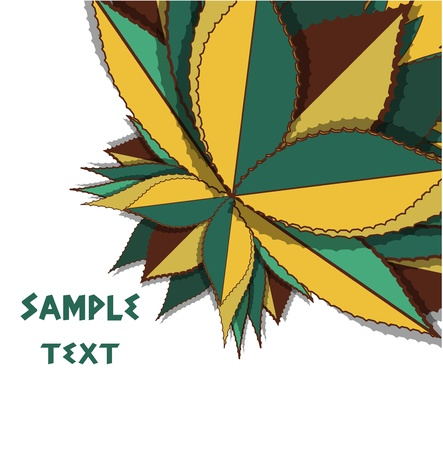 aloe: Natural pattern Illustration