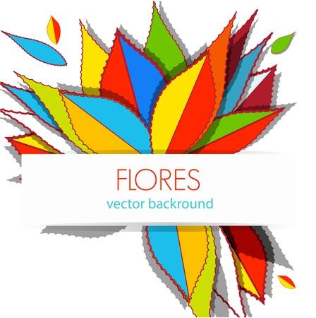 agave: Fondo brillante con hojas de dibujo Vectores