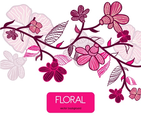 adornment: Floral background