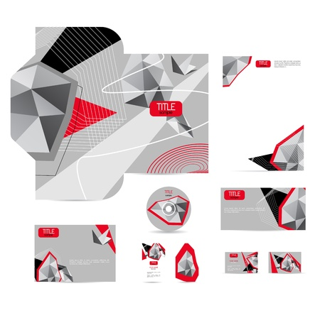 corporate identity: corporate style with bright abstract background Illustration