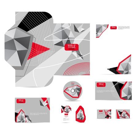 carta identit�: lo stile aziendale, con sfondo chiaro abstract