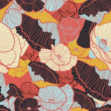 Poppies pattern Vector