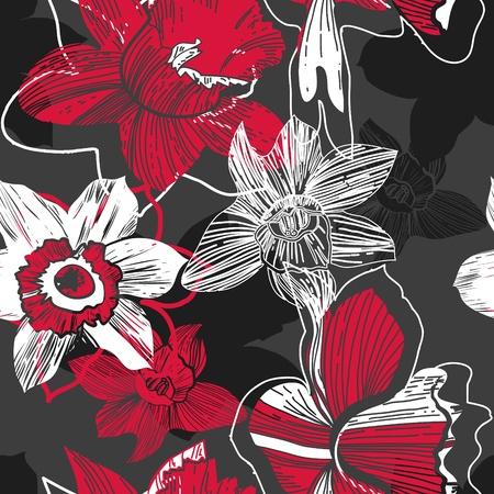 canvas print: Estampado de flores Vectores