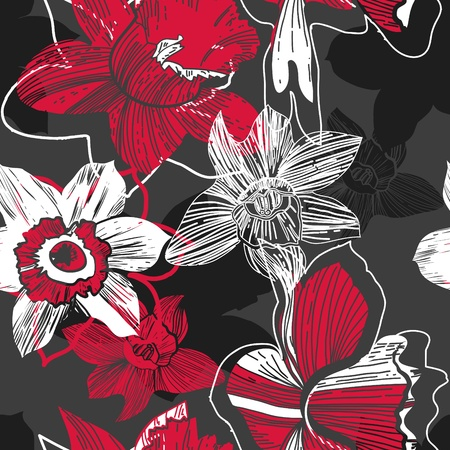 narcissus: Floral pattern