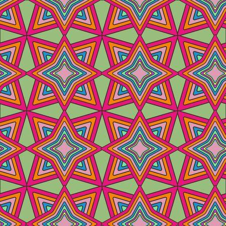 Zusammenfassung nahtlose Textur mit ethnischen Muster Vektorgrafik