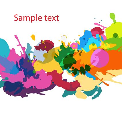 blotch: Abstract vector multicolr grunge vector