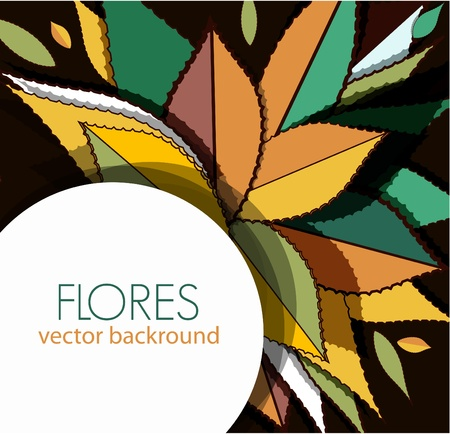 Vector background with bright leafs Vector