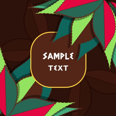 Vector background with multicolor drawing leafs Vector