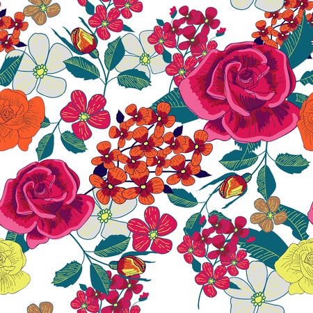 canvas print: Garden seamless pattern