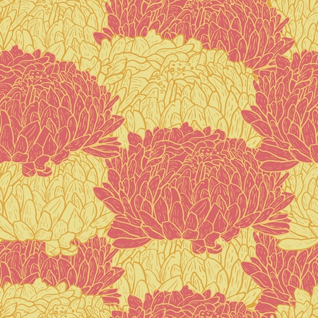 Abstract floral vector seamless texture Vector