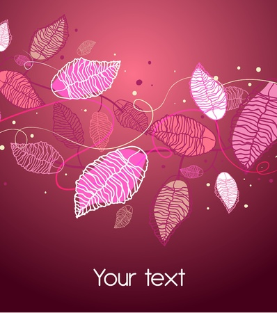 Lilac texture with leafs Vector