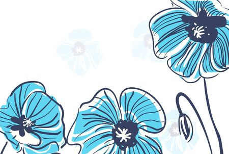 bight: Abstract bight vector background with drawing flowers Illustration