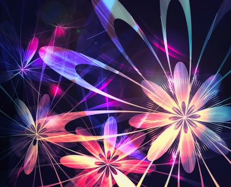 Abstract background with flowers photo
