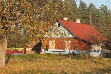 ratty: Photo with village landscape with old wooden house