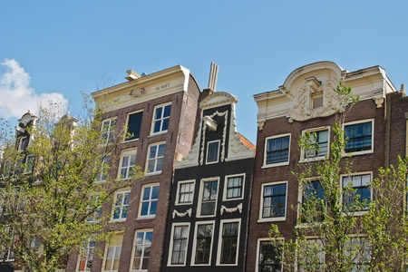 Photo with historic old european architecture. Amsterdam Stock Photo - 11459514