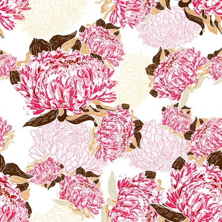 canvas print: Seamless floral pattern
