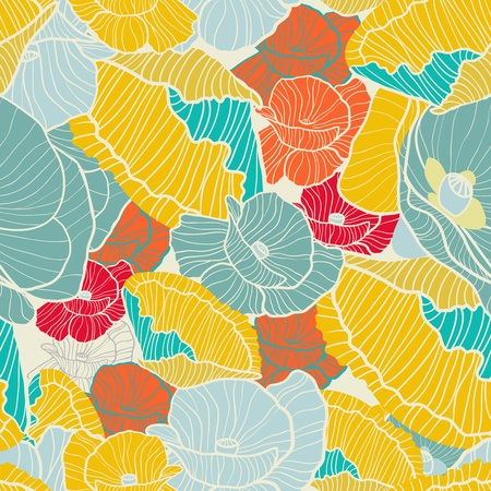 Bright poppies Illustration