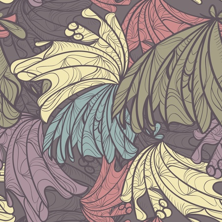 shell pattern: Seamless vector background with abstract pattern