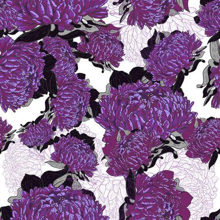 Seamless lilac texture Vector