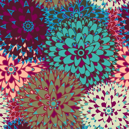 Seamless vector background with abstract flowers Vector