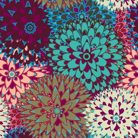 clavel: Vector de fondo sin fisuras con flores abstractas Vectores