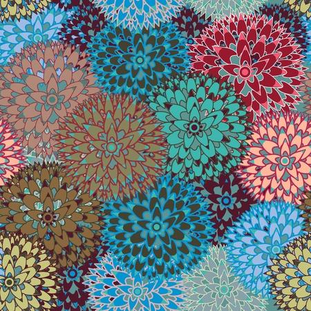 claveles: Vector de fondo sin fisuras con flores abstractas Vectores