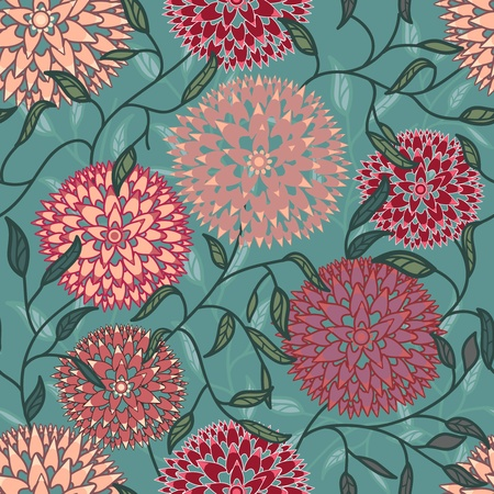 canvas print: Vector de fondo sin fisuras con flores abstractas Vectores