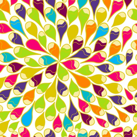 nautilus shell: Bright seamless vector pattern with multicolor drops Illustration