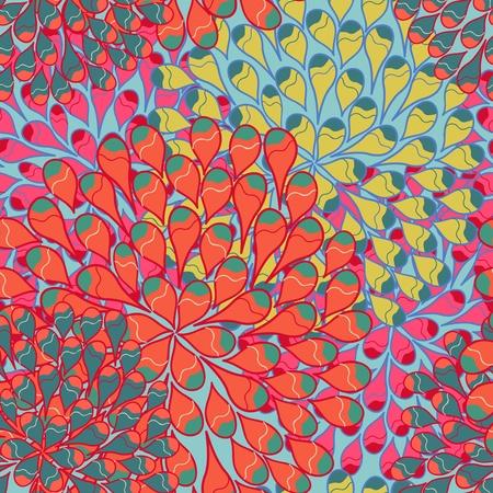 canvas print: Brillante patr�n de vectores sin fisuras con gotas multicolores Vectores