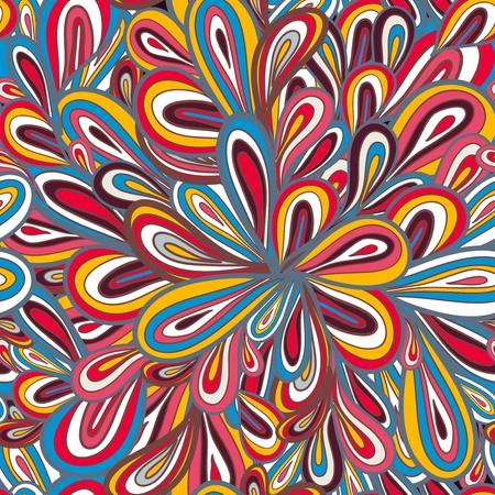 tegelwerk: Abstract naadloze vector patroon met heldere tekening multicolor druppels Stock Illustratie