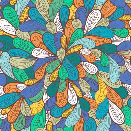 물결: 밝은 그림 여러 가지 빛깔의 방울과 추상 원활한 벡터 패턴