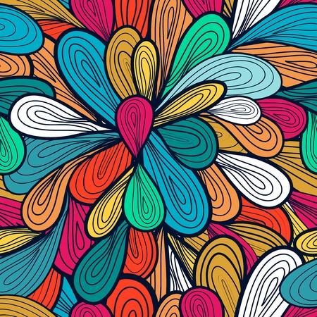 Patrón abstracto vector transparente con brillantes gotas de dibujo multicolor Ilustración de vector