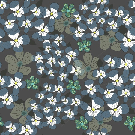 Seamless vector background with drawing multicolor garden flowers Vector