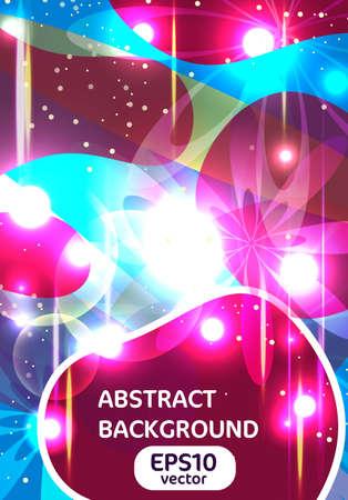 nakładki: Abstrakcyjne tło z jasnymi kształtów oświetlenia