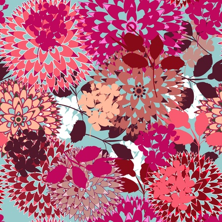clavel: De fondo sin fisuras con flores abstractas Vectores