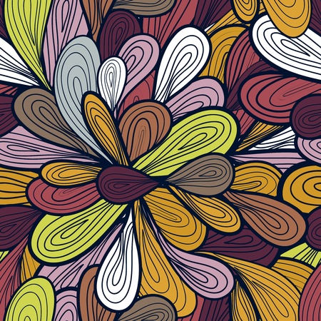 dark beige: Abstract seamless pattern with bright drawing multicolor drops