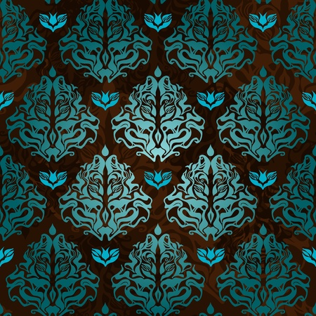 and turquoise: Abstract seamless background with original pattern