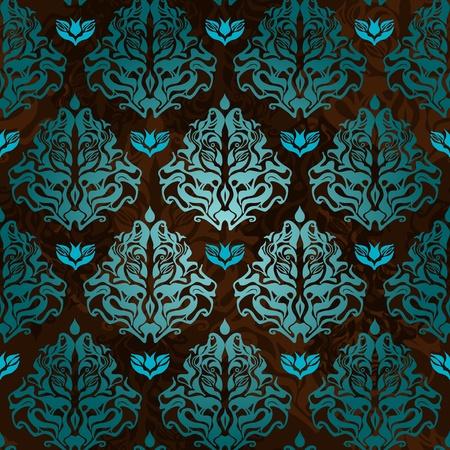 turquesa color: Resumen de antecedentes sin fisuras con el patr�n original Vectores