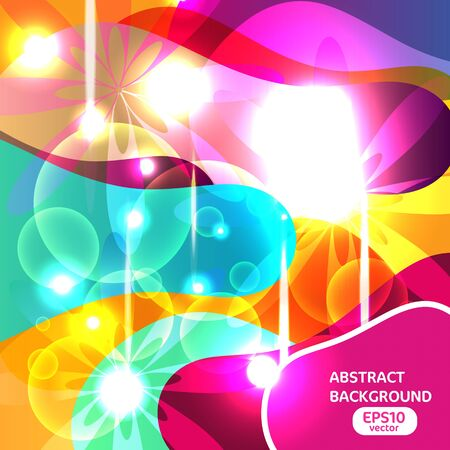 Abstract vector background with bright lighting shapes Stock Vector - 13652897
