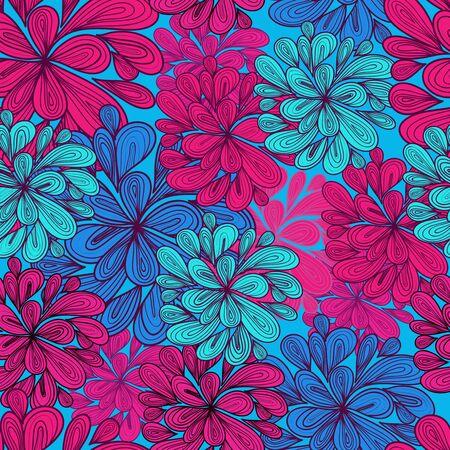 papel tapiz turquesa: Resumen patr�n de vectores sin fisuras con el brillante dibujo multicolor de gotas